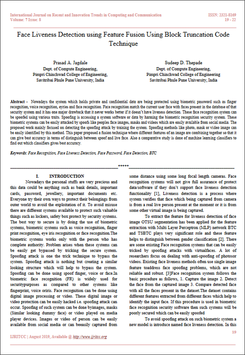 International Journal on Recent and Innovation Trends in